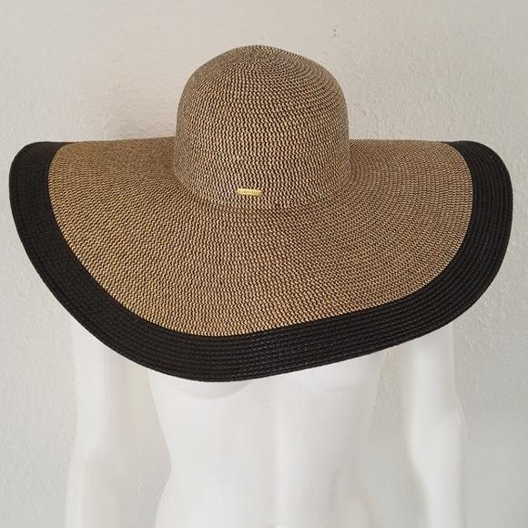 6f3e1796 Calvin Klein Accessories - Calvin Klein Luxe Resort Floppy Straw Hat
